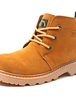 Women's Shoes Suede Flat Heel Motorcycle Boots / Work & Safety Boots Outdoor / Casual Blue / Yellow