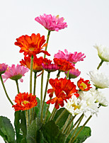 A Bunch Of 6 Head Of Polyester Daisies Artificial Flowers