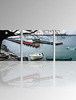 VISUAL STAR®Natural Landscape Canvas Art Boat On Sea Canvas Fine Art Ready to Hang