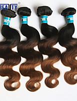 4pcs / lot 3t onda del cuerpo del pelo virginal brasileño 1b / 4/30 # del pelo humano teje ombre