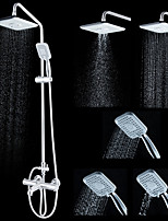 ENZORODI Thermostatic Shower System  Shower Faucet/ Rain Shower/ Handshower Included Brass Chrome ERF6166211CP-A1