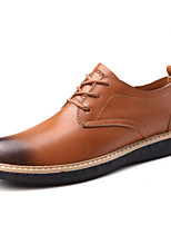 Men's Shoes Outdoor / Athletic / Casual Leather Oxfords Brown / Taupe