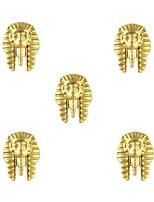 10pcs Egyptian Pharaoh Egypt Theme 3D Gold Nail Art Alloy 8mm x 10mm