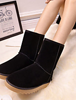 Women's Shoes Sell Well EuropeStyle Flat Heel Snow Boots / Round Toe Boots Casual Black / Brown / Yellow / Pink