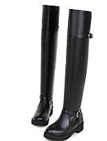 Women's Shoes Low Heel Fashion Boots Boots Casual Black / Brown / White