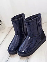 Women's Shoes Low Heel Round Toe Boots Casual Black / Blue