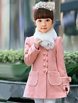 Veste & Manteau Fille de Hiver Coton / Polyester Rose / Rouge