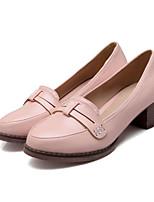 Women's Shoes Leatherette Low Heel Heels Heels Outdoor / Dress / Casual Blue / Pink / White