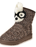 Women's Shoes Low Heel Round Toe Boots Casual Brown / Red / Gray