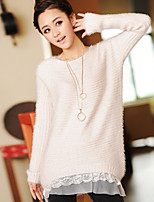 Women's Casual Stretchy Medium Long Sleeve Pullover