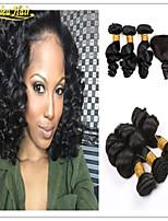 4 Pcs/Lot Brazilian Virgin Hair with Closure Unprocessed Hair Weave 3 Bundles with Lace Closure Brazilian Loose Wave