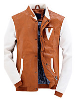 The new winter men leisure bump color leather Urban youth fashion coat