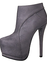 Calçados Femininos - Botas - Botas da Moda - Salto Agulha - Preto / Cinza / Vinho / Khaki - Veludo - Ar-Livre / Casual
