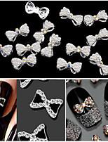 10Pcs 2015 New 3D Nail Art Decorations DIY Glitter Rhinestones For Alloy Nails Tools