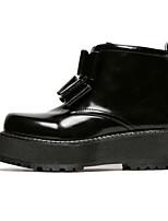 Women's Shoes Platform Comfort Boots Outdoor Black / Burgundy