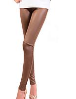 Women Solid Color Legging , Polyester Medium