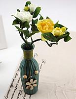 Silk / Plastic Camellia Artificial Flowers 1pcs/set