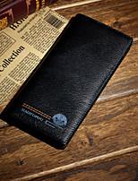 Bi-fold (due scomparti) - Portafoglio / Porta carte di credito / Portamonete - Uomo - Vacchetta - Nero