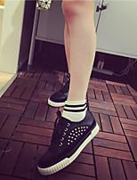 Scarpe Donna - Sneakers alla moda - Tempo libero / Casual - Modelli - Plateau - Finta pelle - Nero / Bianco