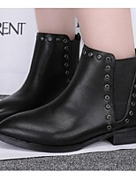 Women's Shoes Synthetic Wedge Heel Closed Toe Boots Outdoor / Casual Black