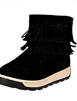 Women's Shoes  Platform Snow Boots / Round Toe Boots Outdoor / Casual Black / Gray / Burgundy