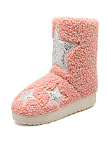 Women's Shoes Low Heel Round Toe Boots Casual Blue / Green / Pink / Khaki