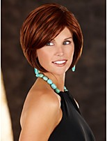 Capless Top Grade Synthetic Brown Colour Short Curly Bob Side Wig