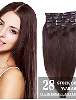 Remy Clip in Human Hair Extensions - Full Head of 20