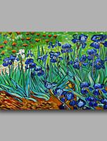 peinture à l'huile abstraite toile van peint à la main gogh domaine des iris bleus repro déco maison un panneau