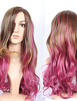The European And American Wind Double Color Gradient Curly Hair Sweet And Lovely Girl Harajuku Multicolour Wigs