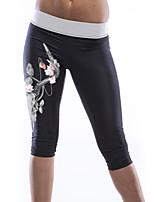 Women's Vogue Print Knee Length Yoga Pants