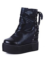 Women's Shoes Flat Heel Fashion Boots / Bootie / Comfort / Combat Boots / Round Toe Boots Casual Black