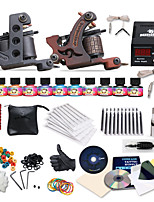 Complete Tattoo Kit 2 Guns Machines 11 Color Inks Power Supply Needles Set