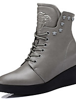 Women's Shoes Synthetic Wedge Heel Wedges / Cowboy / Western  / Snow Boots / Motorcycle Boots / Combat & Career /