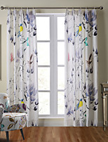 WOPAGES Premium Top Shang Collection Soft Hand Feel 100% Natural Linen Panel Curtain Drapery Lotus Bird One Panel