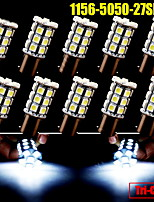 10X Cool White 1156 BA15S 27-SMD 5050 LED Light bulbs Backup Reverse 7506 1141