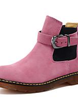 Chaussures Femme - Extérieure / Décontracté / Sport - Rose - Talon Plat - Rangers / Bottes de Moto - Bottes - Daim