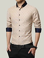 In the autumn of 2015 Korean men's business casual fashion slim size cotton shirt tide simple shirt