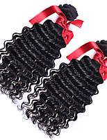 Brazilian Loose Curly Wave Virgin Hair Weave Extensions 2pcs/ lot 7A Black Brazilian Loose Curly Wave Human Hair Weaving