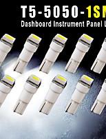 10PCS Car T5 5050 1SMD Wedge Xenon WHITE LED Light Bulbs 74 17 18 37 70 2721
