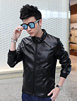Qiu dong outfit young leather jacket or lend students brief paragraph locomotive tide men jacket