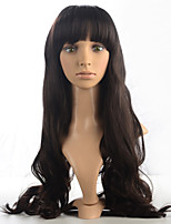 2015 Women Ombre Fashion Natural Wavy Janpanese Heat Resistant Synthetic Hair Wig M16488-#4 24