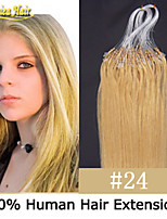 Cheap Micro Loop Rings Hair Extensions Brazilian Remy Straight Hair 18-28 inch 1g/s 100s/set Black Brown Blonde Hair