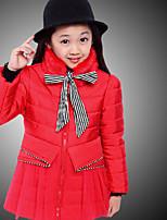 Veste & Manteau Fille de Hiver / Automne Mélange de Coton Bleu / Rouge
