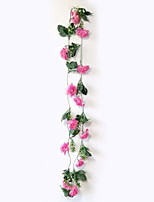 Vines Hanging Garden Products Polyester / Plastic Roses Artificial Flowers