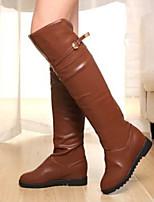 Scarpe Donna - Stivali - Casual - Comoda - Quadrato - Finta pelle - Nero / Marrone