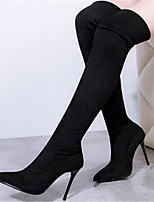 Women's Shoes  Stiletto Heel Pointed Toe Boots Casual Black / Brown / Red / Gray