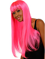 The New Animation Carved Pink Long Straight Hair Wig Top Quality