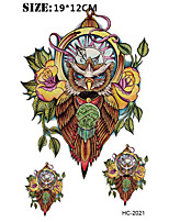 8PCS Owl New Design 19*12cm Fashion Temporary Tattoo Stickers Temporary Body Art Waterproof Tattoo Pattern