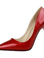 Women's Shoes Stiletto Heel Heels / Pointed Toe / Closed Toe Heels Dress Pink / Purple / Red / Gray / Beige / Orange